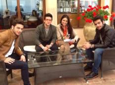 """con i tre cantanti de """"Il Volo"""""""