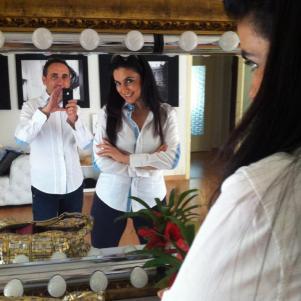 ...allo specchio.