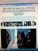 """su Style nell'articolo """"I vip alle sfilate"""" (accanto a me Filippa Lagerback)"""