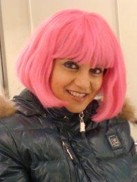 Divertente! Con la parrucca rosa Lazy Town