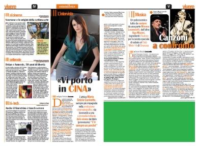 """intervista a Maria Grazia Cucinotta di Agata Patrizia Saccone, articolo pubblicato su """"La Sicilia-Vivere"""""""