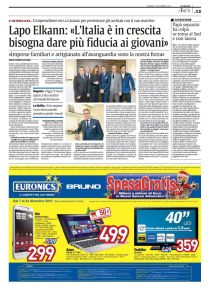 """intervista a Lapo Elkann (Italia Independent) di Agata Patrizia Saccone pubblicata su """"La Sicilia"""" del 14 dicembre 2012"""