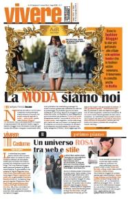 """Articolo di Agata Patrizia Saccone sul mondo delle fashion blogger pubblicato su """"La Sicilia - Vivere"""""""