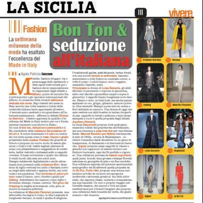 Milan Fashion Week a/i 13/14 (febbraio 2013) su La Sicilia - Vivere