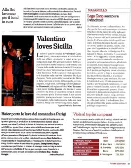 """itw a Valentino Garavani di Agata Patrizia Saccone, articolo pubblicato su """"Panorama-Economy"""""""