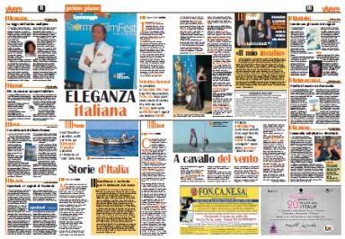 """intervista esclusiva a Valentino Garavani, articolo di Agata Patrizia Saccone pubblicato su """"La Sicilia - Vivere"""""""