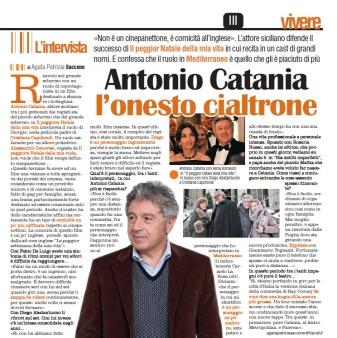 itw ad Antonio Catania di Agata Patrizia Saccone pubblicata sul quotidiano La Sicilia - Vivere