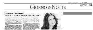 La Sicilia 27 giugno 2013